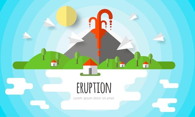 Sfondo eruzione vulcanica