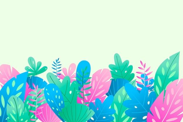 Sfondo estate con foglie colorate