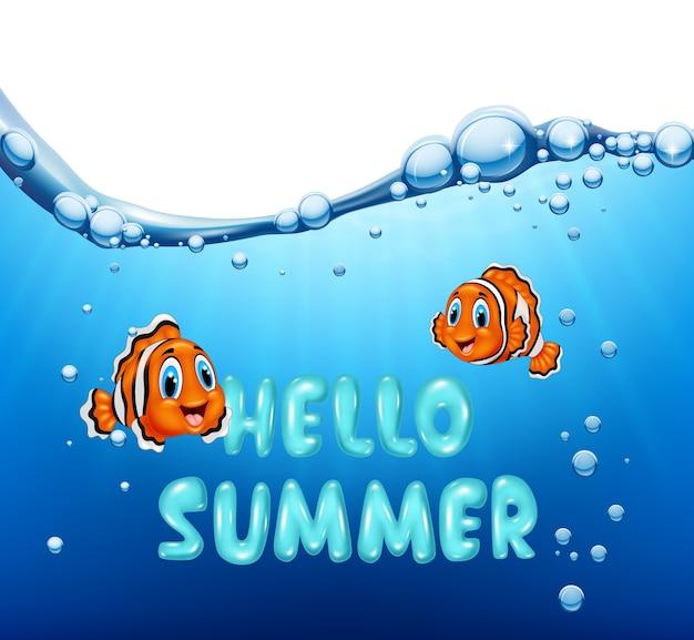 Sfondo estate con pesci pagliaccio