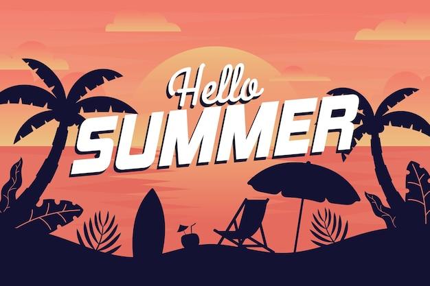 Sfondo estate con spiaggia