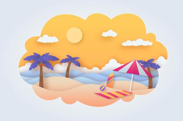 Sfondo estate in stile carta