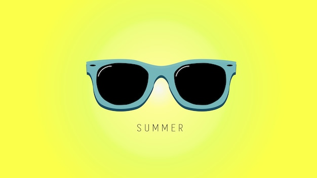 Sfondo estate minimalista con occhiali da sole.