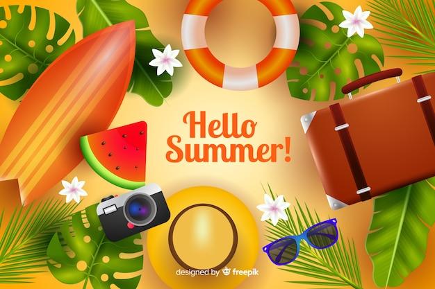 Sfondo estate realistica