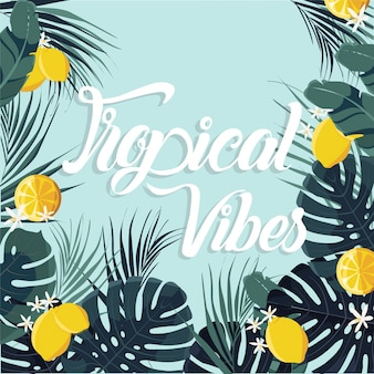 Sfondo estate tropicale