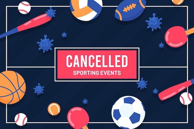 Sfondo eventi sportivi annullato