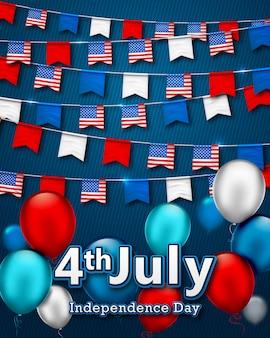 Sfondo festa dell'indipendenza americana