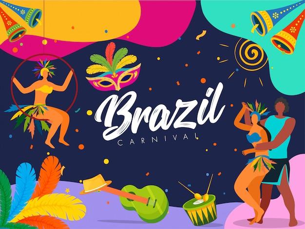 Sfondo festa di carnevale del brasile.