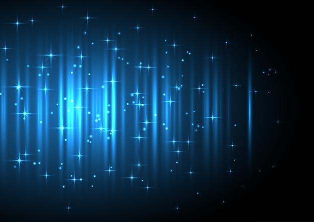 Sfondo festivo decorativo con stelle luminose