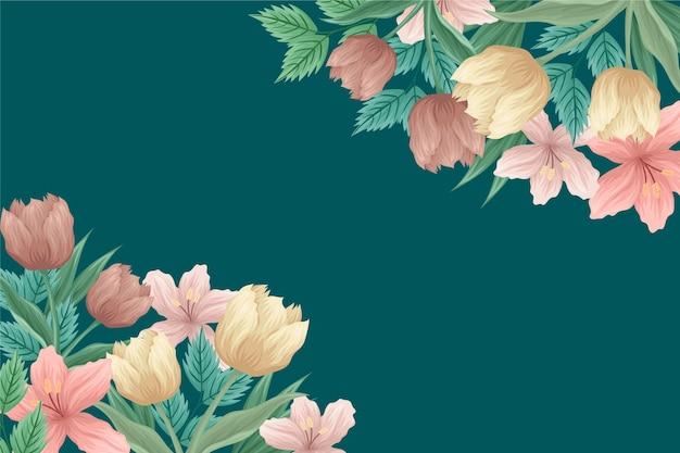 Sfondo fiori vintage 2d