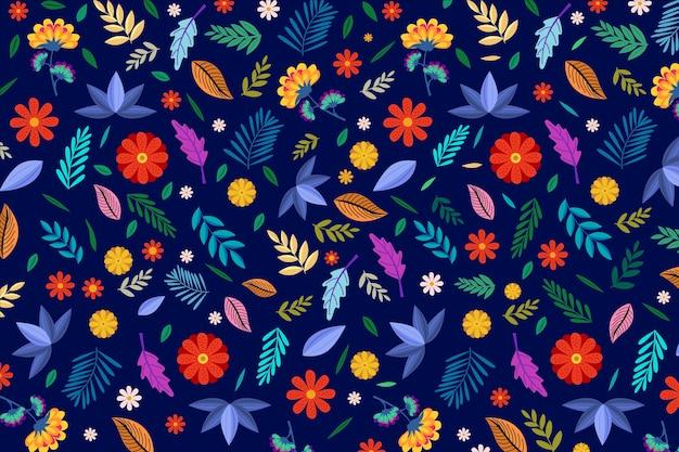 Sfondo floreale colorato ditsy