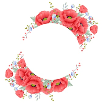 Sfondo floreale con fiore di papavero