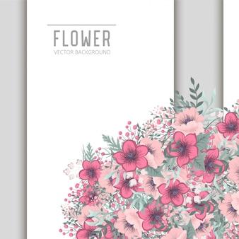 Sfondo floreale con fiori colorati.