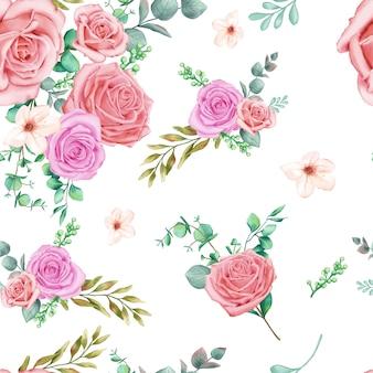 Sfondo floreale con rose