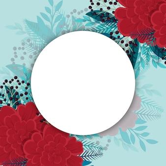 Sfondo floreale con spazio vuoto rotondo