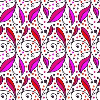 Sfondo floreale decorativo doodle. modello senza soluzione di continuità per i tuoi sfondi di progettazione, riempimenti di pattern, sfondi di pagina web, texture superficiali.
