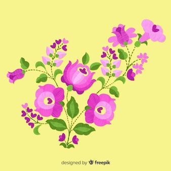 Sfondo floreale del ricamo