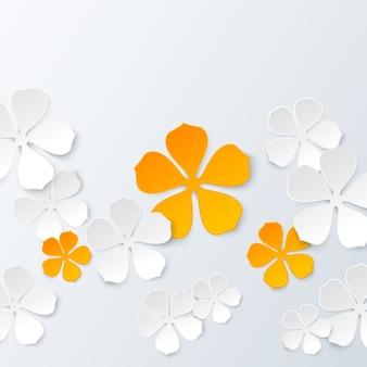 Sfondo floreale di carta