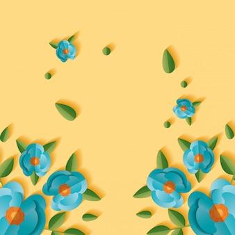 Sfondo floreale di fiori