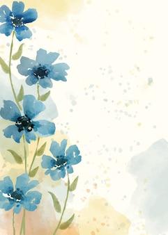 Sfondo floreale dipinto a mano in stile acquerello