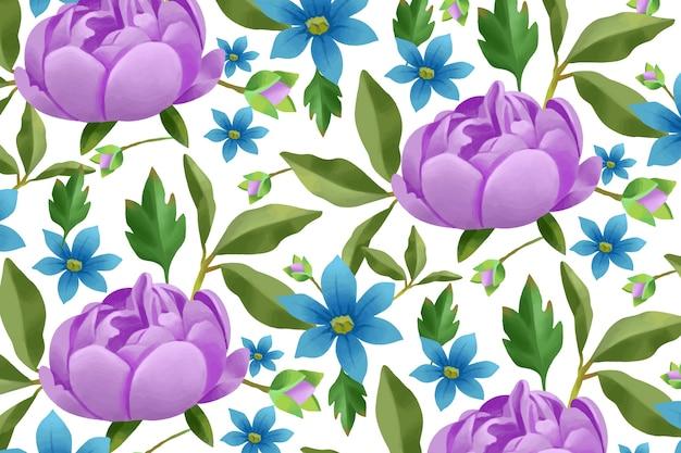 Sfondo floreale dipinto a mano realistico