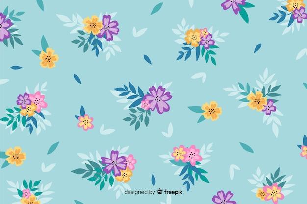 Sfondo floreale dipinto a mano