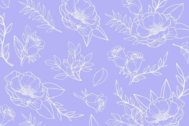 Sfondo floreale disegnato a mano colorato