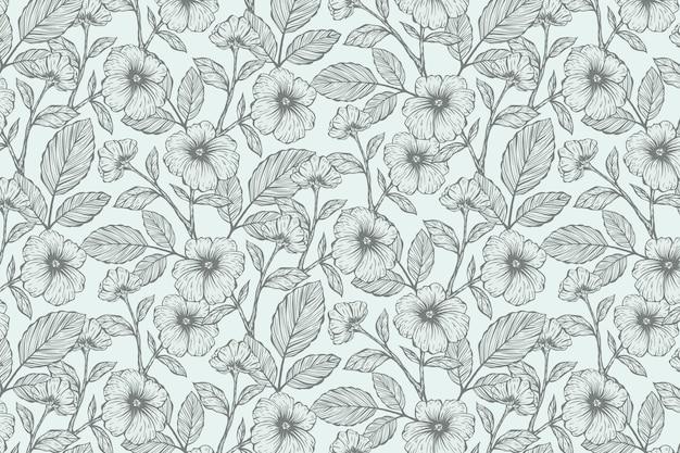 Sfondo floreale disegnato a mano realistico