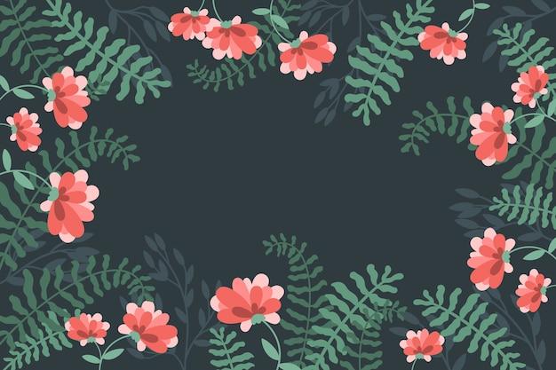 Sfondo floreale esotico colorato con spazio di copia