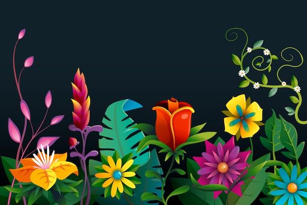 Sfondo floreale esotico colorato