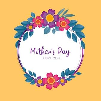 Sfondo floreale festa della mamma