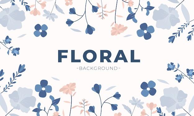 Sfondo floreale in design piatto