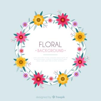 Sfondo floreale piatto