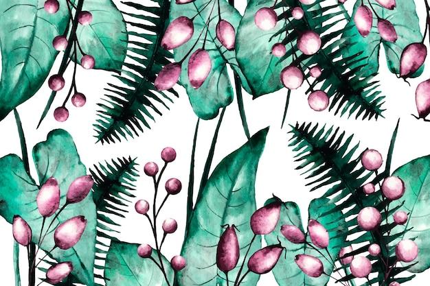 Sfondo floreale realistico dipinto a mano