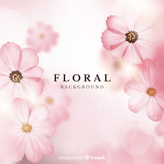Sfondo floreale realistico