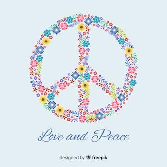 Sfondo floreale segno di pace