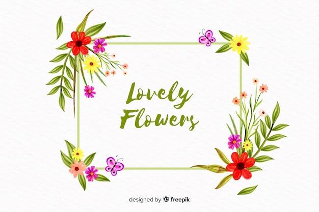 Sfondo floreale stile acquerello