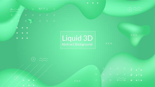 Sfondo fluido 3d verde