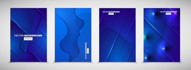 Sfondo fluido moderno geometrico blu