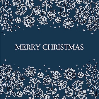 Sfondo folk merry christmas decorative folk