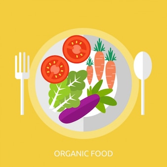 Sfondo food design organico