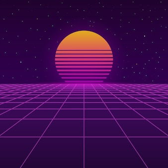 Sfondo futuristico degli anni 80.
