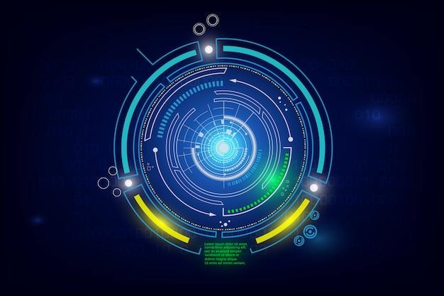 Sfondo futuristico di fantascienza hi-tech