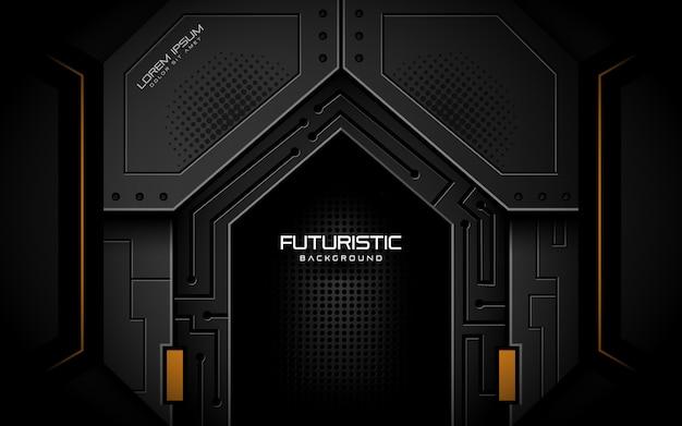 Sfondo futuristico in stile scuro