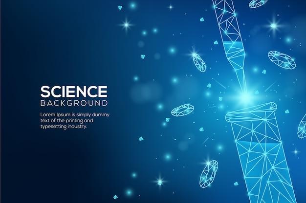Sfondo futuristico laboratorio di scienze