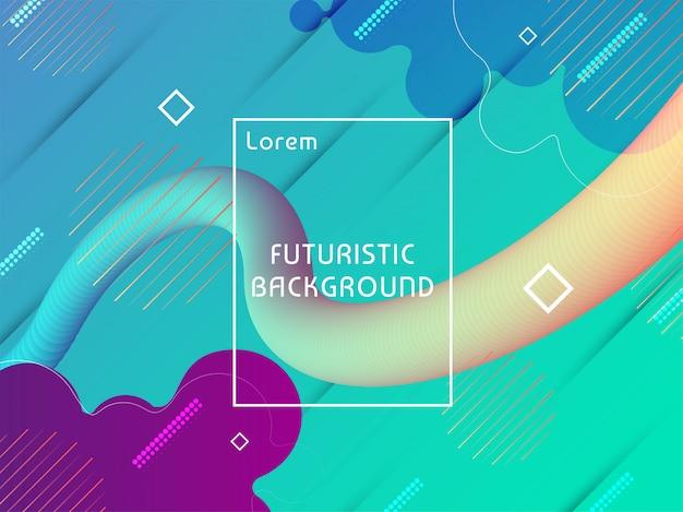Sfondo futuristico techno moderno