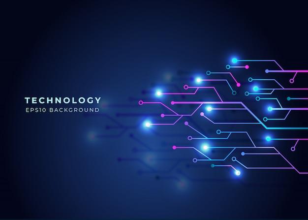 Sfondo futuro digitale e blu