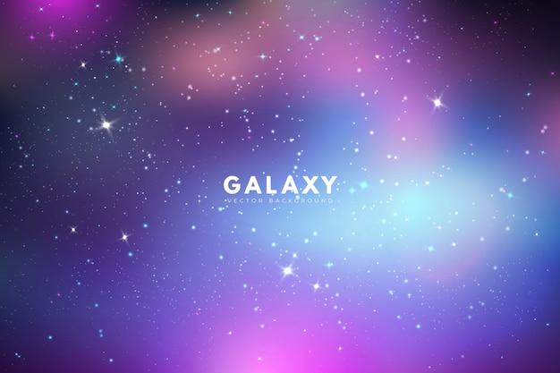 Sfondo galassia iridiscente con stelle