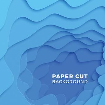 Sfondo geometrico 3d con strati di taglio carta realistico.