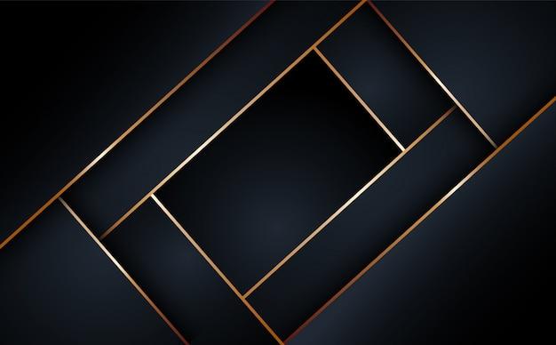 Sfondo geometrico a strati neri