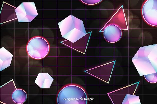 Sfondo geometrico anni '80 con stile retrò